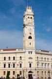 Oradea, construção da câmara municipal Fotografia de Stock Royalty Free