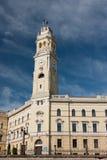 Oradea, de Bouw van het Stadhuis Stock Foto's
