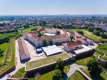 Oradea-Fort von oben Stockbilder