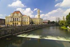 Oradea Rathaus, Rumänien stockfotos