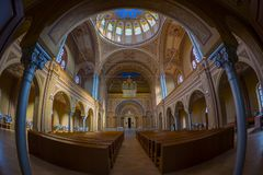 Inside of the Neolog Synagogue Zion. Oradea, Romania Royalty Free Stock Photography