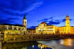 Oradea stad, Rumänien Arkivbilder