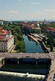 Oradea stadssikt Arkivfoto