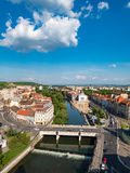 Oradea town center aerial view from the city hall tower Royalty Free Stock Image