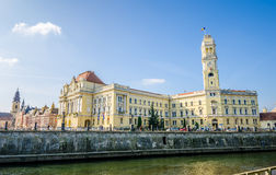 Oradea town hall royalty free stock photos