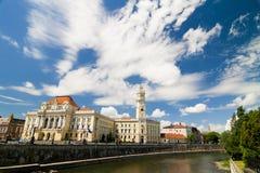 Oradea urząd miasta Zdjęcie Stock