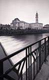 Oradea in zwart-wit Stock Fotografie