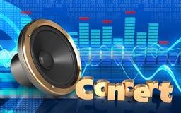 orador alto do sinal do concerto 3d Fotos de Stock Royalty Free