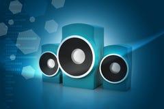Orador da música Imagens de Stock