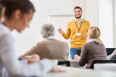 Orador de consulta do treinamento fotografia de stock