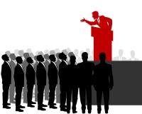 Orador e multidão ilustração do vetor
