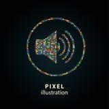 Orador - ilustração do pixel Imagem de Stock