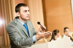 Orador masculino Imagem de Stock Royalty Free