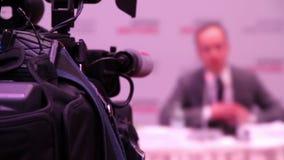 Orador na conferência video estoque
