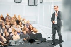 Orador na convenção do negócio foto de stock