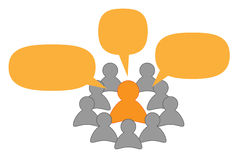 Orador ou professor e ouvintes Imagens de Stock