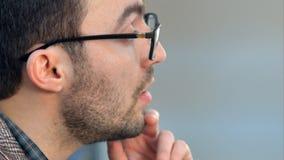 Orador que dá uma conversa em leeson Fotos de Stock