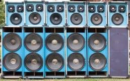 Oradores audio usados Fotografia de Stock Royalty Free