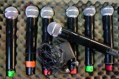 Oradores dos amplificadores da fase e caixa audio do equipamento imagens de stock
