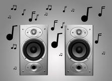 Oradores e música Foto de Stock Royalty Free