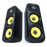 Oradores modernos do som do poder Imagem de Stock