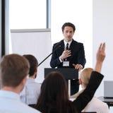 Oradores na reunião de negócios Fotos de Stock