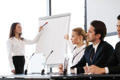 Oradores na reunião de negócios Fotografia de Stock Royalty Free