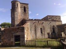 Oradour的苏尔Glane法国教会 库存照片