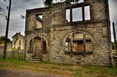 Oradour-sr-Glane destroied av den tyska nazien och är nu en permanent minnesmärke Royaltyfri Foto