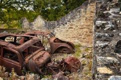 Oradour-sr-Glane destroied av den tyska nazien och är nu en permanent minnesmärke Royaltyfria Bilder