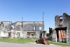 Oradour sur Glane被毁坏的村庄在1944年6月 免版税库存图片