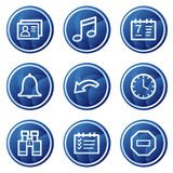 Oraganizer web icons, blue circle buttons series stock illustration