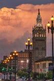 Orage au-dessus de Kansas City Missouri Images libres de droits