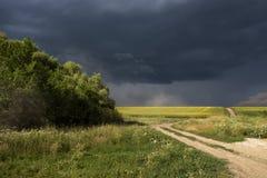 Orage d'été dans le domaine Photo libre de droits