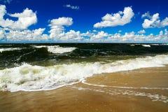 Orage d'été en mer baltique Photographie stock