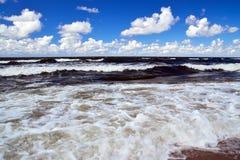 Orage d'été en mer baltique Images stock