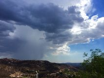 Orage de pluie d'été Photographie stock libre de droits