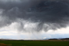 Orage en Idaho rural Photo libre de droits