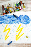 Orage et pluie Photographie stock