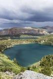Orage gigantesque d'été de lacs Photos stock