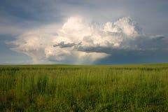 Orage grave sur les plaines Image stock