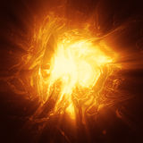 Oragne plasma energy background Royalty Free Stock Photo