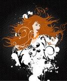 orahge włosy g - girl. Obrazy Royalty Free