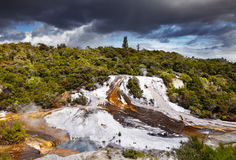 Orakei Korako geotermal valley Royalty Free Stock Photo