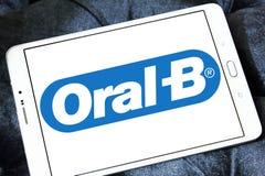 Oral-B logo. Logo of toothpaste brand Oral-B on samsung tablet stock photos