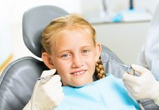 Oral cavity inspection Stock Images