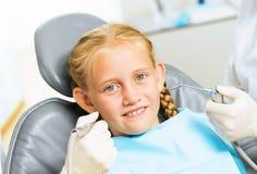 Oral cavity inspection Stock Photos