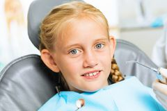 Oral cavity inspection Royalty Free Stock Images