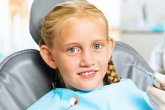 Oral cavity inspection Stock Photo