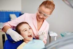 Oral checkup Stock Photo